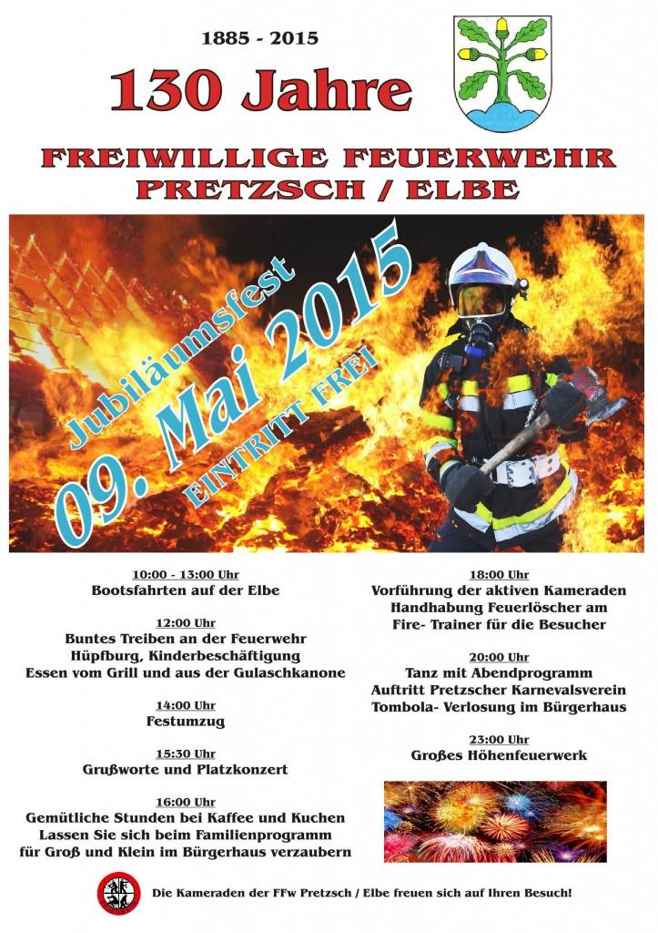 130 Jahre Freiwillige Feuerwehr Pretzsch / Elbe