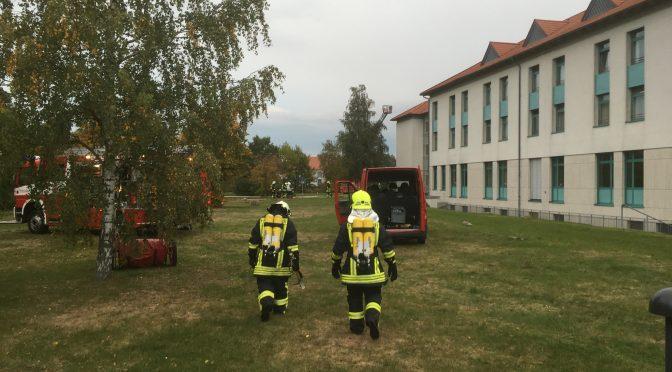 2016/10/20 Einlauf BMA Bad Schmiedeberg Moschwiger Straße (Einsatzübung)
