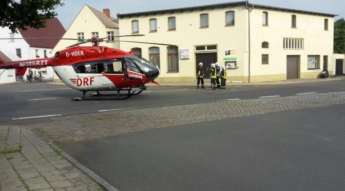2017/08/24 Kleineinsatz Landung Rettungshubschrauber