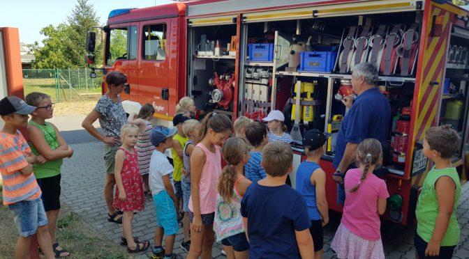 Hortkinder bei der Freiwilligen Feuerwehr Pretzsch / Merschwitz