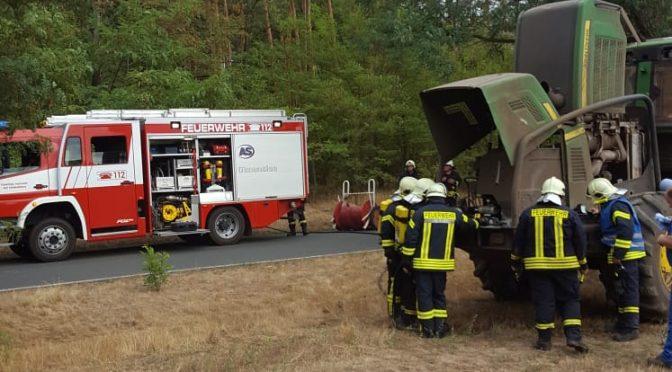 2018/8/20 Einsatz Feuer3 Körbin-Alt LKW