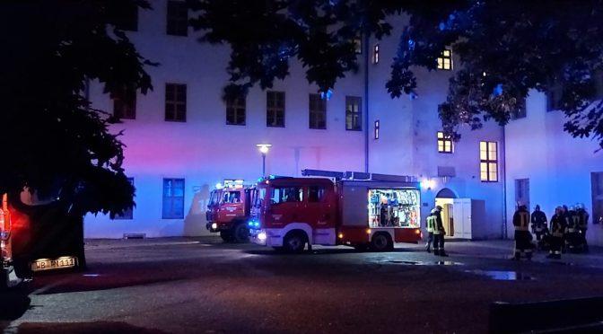 2020/07/26 Einsatz OBJK Pretzsch Schloßbezirk BMA
